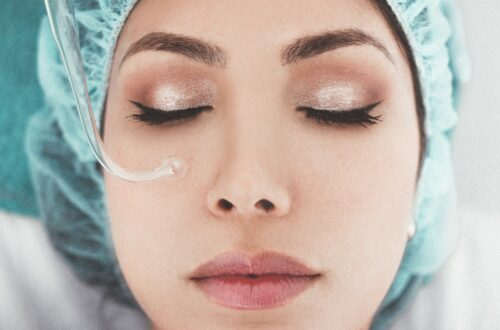 woman undergoing cosmetological treatments